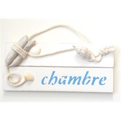 Plaque chambre coquillages